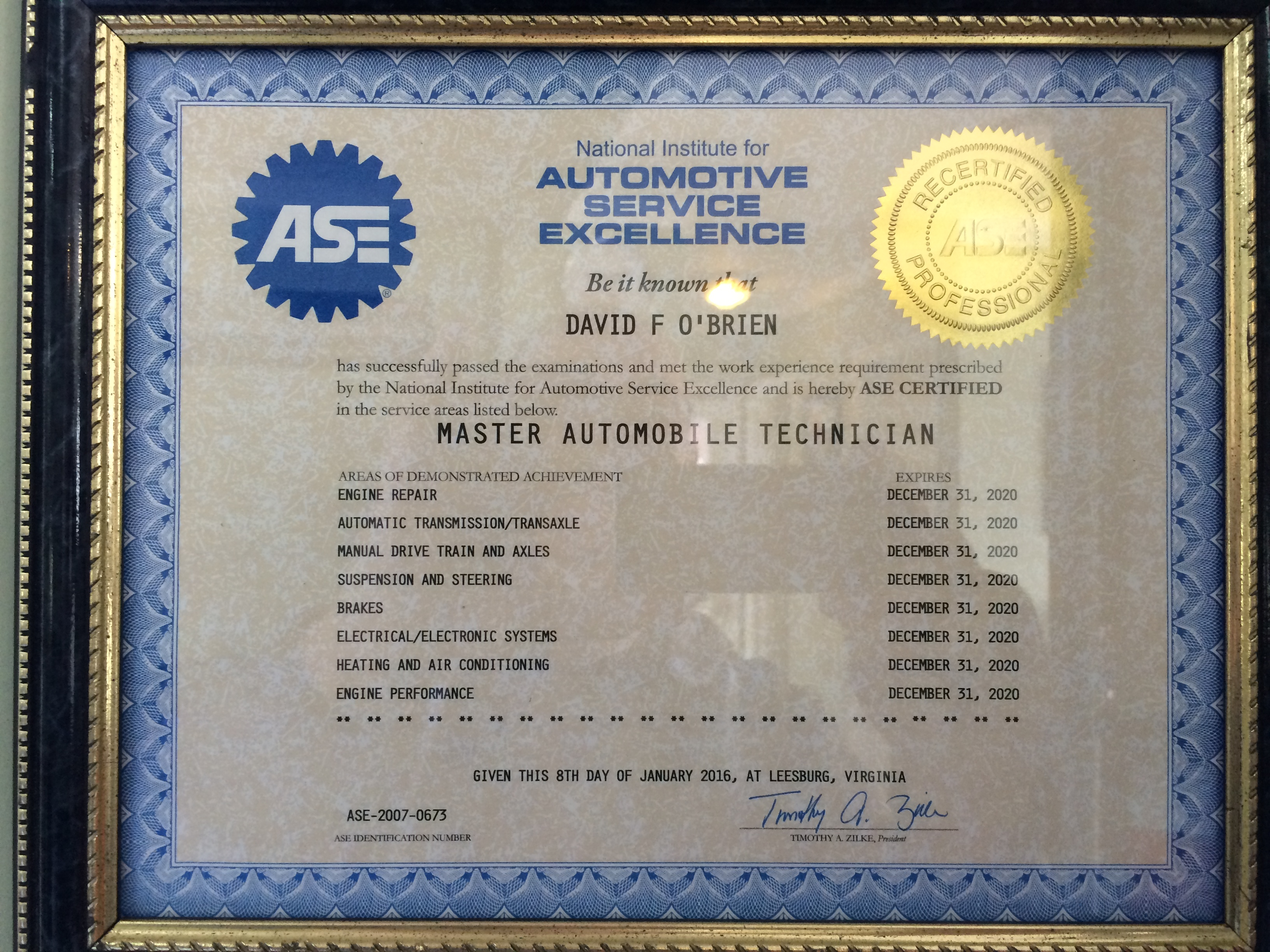 What Does Ase Stand For Poiriers Service Center