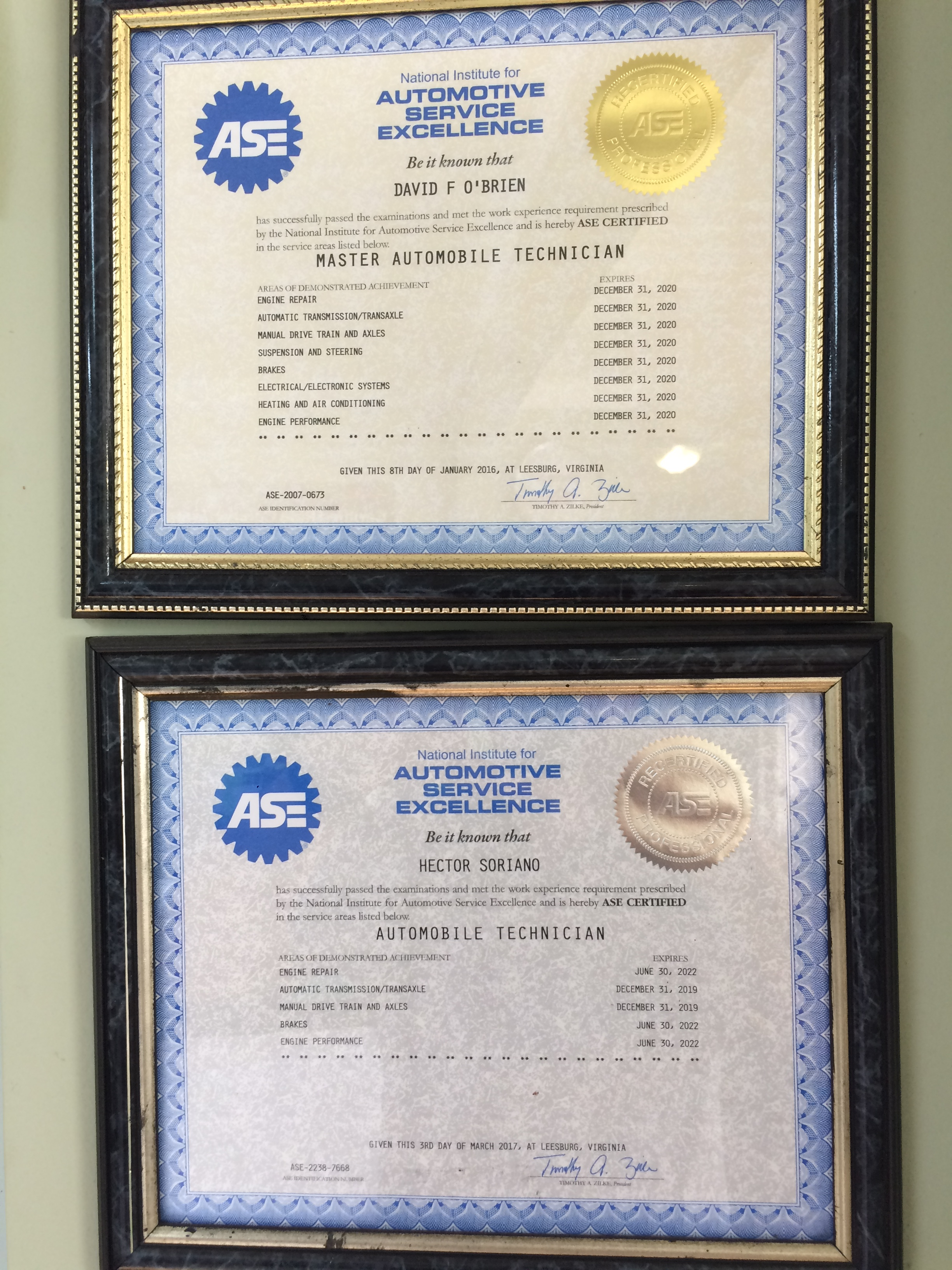What Does Ase Certification Mean Poiriers Service Center
